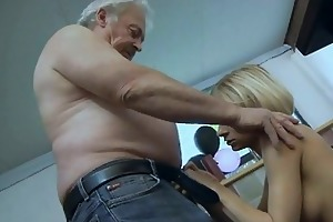 big breasted blonde playgirl sucks old mans giant