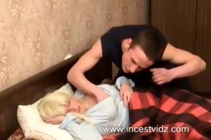 blonde sleeping mother