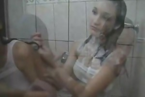 18 year old teens dancing in the shower