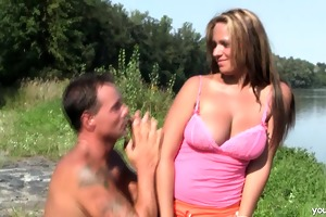 breasty juvenile leila acquires drilled outdoors