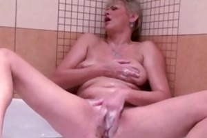golden-haired mature lady loves playing part6