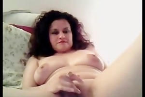 horny mother i toying her slit on livecam