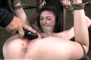 18 year old cums in bondage