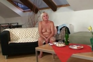 horny drunk granny lures her son-in-law