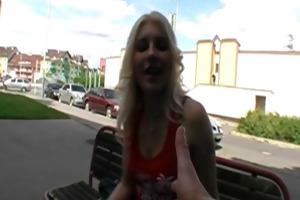 slender juvenile slut copulates in public