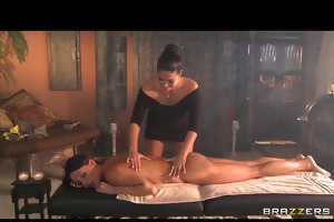 large tit milf massage turns into tight 69 lesbo a