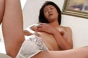 milf masturbating on the ottoman jerking off