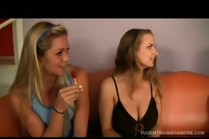 mommy and daughter hot fucking three-some tube
