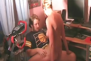 sexy young dilettante couple at home