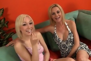 porn star mommy receives lewd daughter into porn