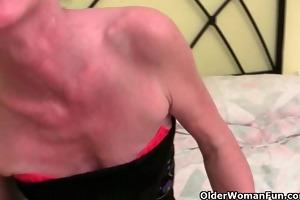 unshaved grandma receives her furry gap fingered