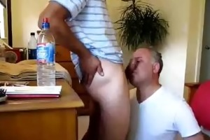 younger lads face copulates aged guy - lots of cum