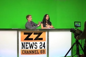 news anchor louise jensen is distracted at work