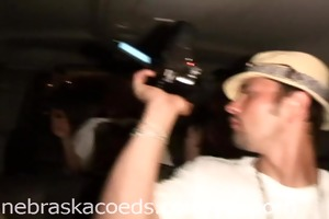 camera boy fingering model in car