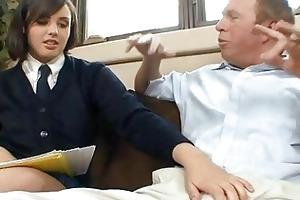 schoolgirl harlots in skirts fucking old farts