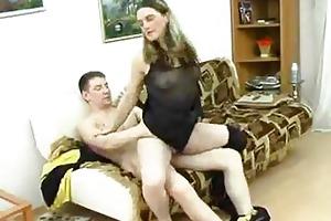 mature sweetheart takes corpulent juvenile cock