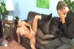 watchung my daughter getting fucked by black cock
