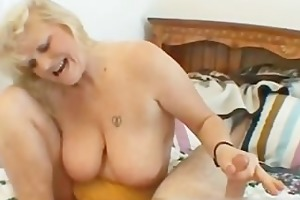 wicked mama shows her juggs and sucks cock part4