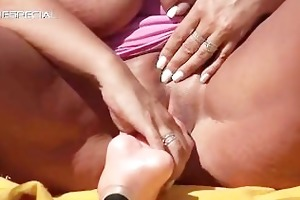 sexually excited milf gets drilled hard outdoor