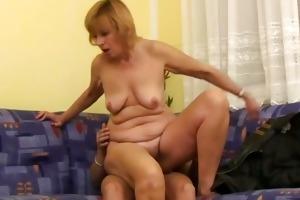 brenda receives a youthful pecker inside her