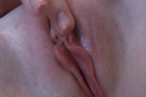 seductive blonde girl muff fingering on cam