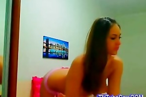 very hawt juvenile brunette hair babe sweet soft