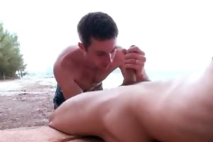 youthful chaps having outdoor gay sex part2