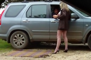 non-professional mother i outdoor dogging