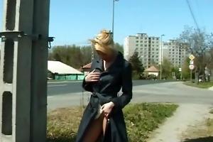 cute juvenile girl pissing in public