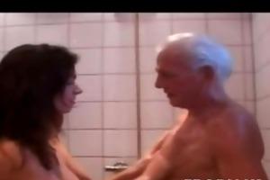 grandpa fucks a little teen brunette hair show