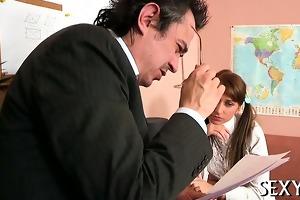 teacher is getting moist orall-service