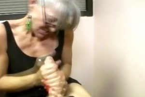 cocksucking milf engulfing on hard cock