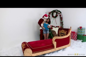 slutty teen schoolgirl just craves santas