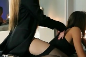 young beauties in worthwhile costume gag sex toy