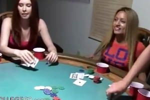 young girls banging on poker night