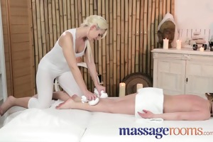 massage rooms young innocent lesbo has her tight