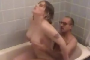 mama gets screwed hard in bathroom part4