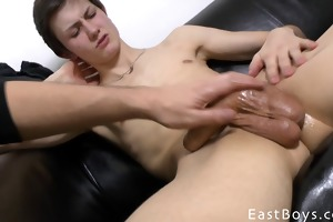 young boy - tugjob with oil