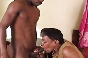 darksome granny likes the youthful pounder
