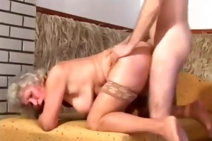 granny with slaggy love muffins goes anal