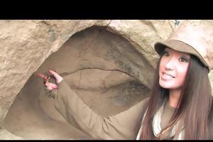 cute oriental brunette teen wench bonks big-dick
