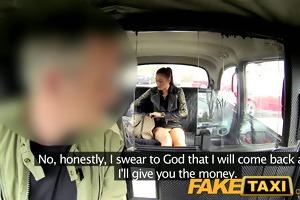 faketaxi brunette club hostess in money dilemma