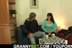 huge titted lady gives head and rides dick