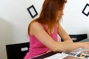 redhead legal age teenager girl desires her older