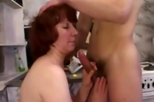 old mother i engulf cock receive her slit licked