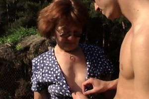 granny with massive ass gets boy hard