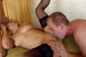 milf blond luciana takes on two younger dudes