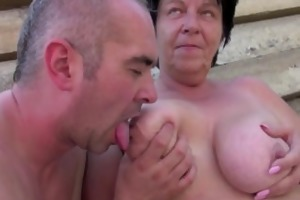 german old big beautiful woman mom acquire caught