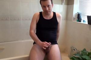 juvenile chap undresses and cums