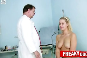 hairy pussy blond used by freaky doctor